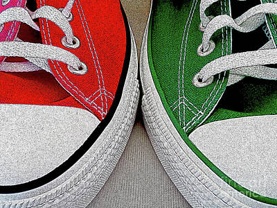 Sneakers Digital Art - Soulmates by Don Pedro De Gracia