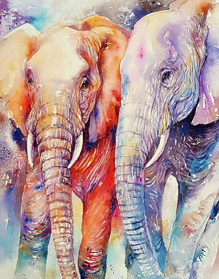 Family Love Painting - Soulmates Forever by Arti Chauhan