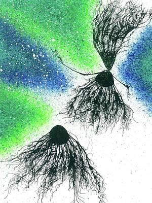 Fireworks Painting - Soulmates Reunion After Reincarnation #567 by Rainbow Artist Orlando L aka Kevin Orlando Lau