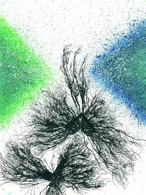 Fireworks Painting - Soulmates Reunion After Reincarnation #572 by Rainbow Artist Orlando L aka Kevin Orlando Lau