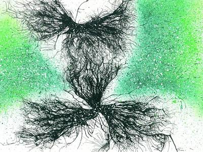 Cosmic Space Painting - Soulmates Reunion After Reincarnation #573 by Rainbow Artist Orlando L aka Kevin Orlando Lau