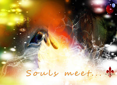 Meaning Of Life Mixed Media - Souls Meet by Barbara Hebert