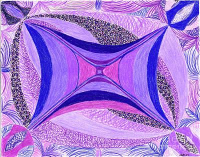 Lavender Drawing - Soulviolet by Kim Sy Ok