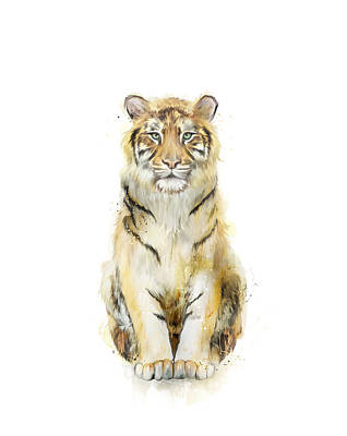Tiger Wall Art - Painting - Sound by Amy Hamilton