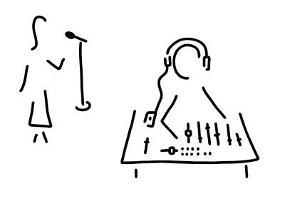 Studio Drawing - Sound Engineer Studio Admission Mixing Writing Desk by Lineamentum