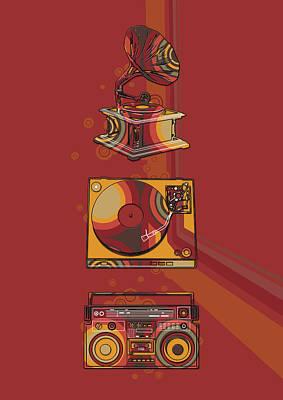 Digital Art - Sound Evolution 5 by Bekim Art
