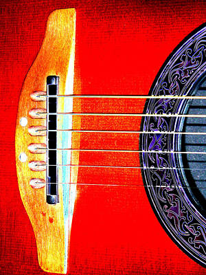 Sound Hole Art Print by Peter  McIntosh