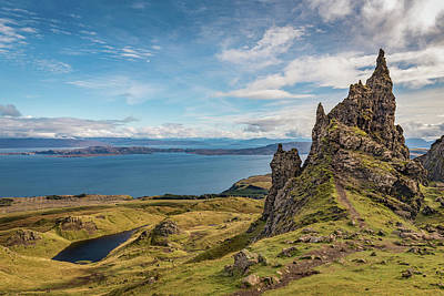 Photograph - Sound Of Raasay From Storr by Gary Eason