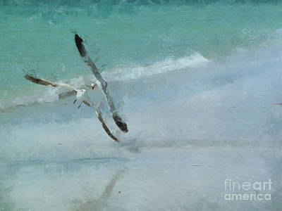 Sound Of Seagulls Art Print by Claire Bull