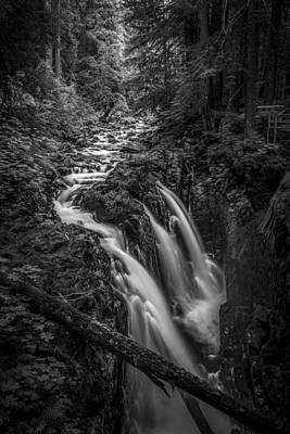 Waterfalls And Trees Landscape Photograph - Sound Of Strength by Jon Glaser