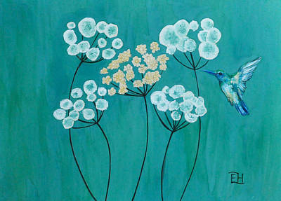 Colibri Painting - Sound Of Wings #2 by Elena Hasnas