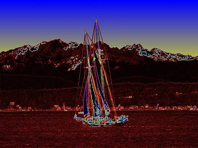 Digital Art - Sound Sailin 4 by Tim Allen
