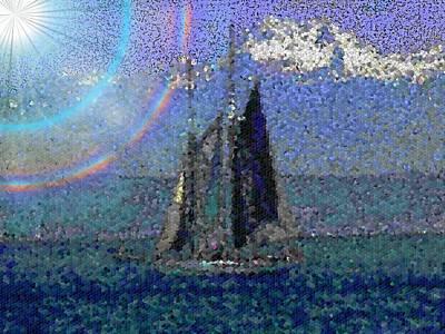 Sound Digital Art - Sound Sailin 5 by Tim Allen