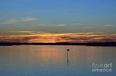 Photograph - Sound Side Sunset-1 by Bob Sample