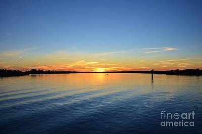 Photograph - Sound Side Sunset-3 by Bob Sample