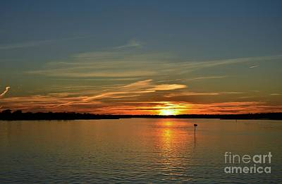 Photograph - Sound Side Sunset-4 by Bob Sample