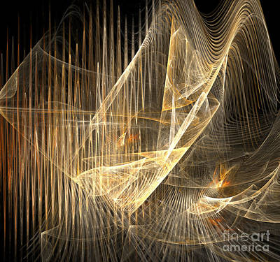 Digital Art - Sound Waves In 3d by Ed Churchill