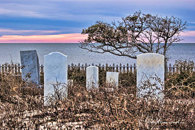 Dan Beauvais Royalty-Free and Rights-Managed Images - Soundfront Cemetery - Salvo 3485 by Dan Beauvais
