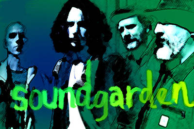 Eddie Vedder Painting - Soundgarden  by Enki Art