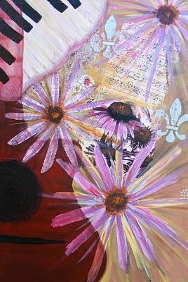 Sounds Like Flowers Art Print by Christina Fajardo