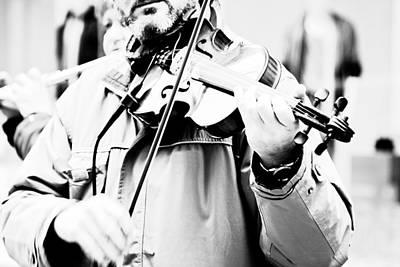Violin Photograph - Sounds Of A Stranger by Gabriela Insuratelu