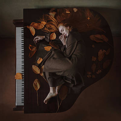 Piano Photograph - Sounds Of Autumn by Anka Zhuravleva