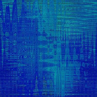 Digital Art - Sounds Of Blue by Stephanie Grant