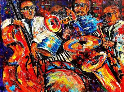 Painting - Sounds Of Jazz by Helen Kagan