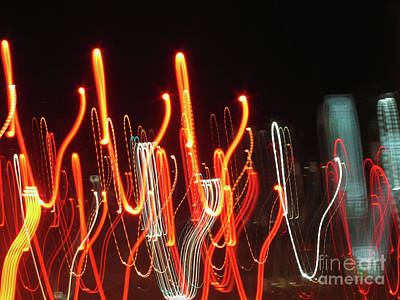 Photograph - Dancing In The Streets Abstract Painting With Light by Carol F Austin