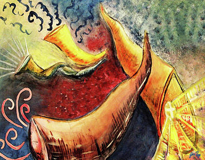 Painting - Sounds Of The Shofar by Jennifer Page