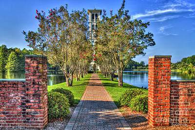 Photograph - Sounds Of Victory Too The Bell Tower Furman University Greenville South Carolina Art by Reid Callaway