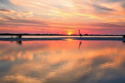 Soundside Sunset Art Print