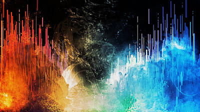 Painting - Soundwaves 2.0 by Andrea Mazzocchetti
