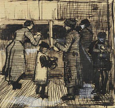 Job Commercial Painting - Soup Distribution In A Public Soup Kitchen, 1883 02 by Vincent Van Gogh