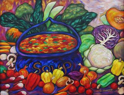 Painting - Soup In A Blue Pot by Dianne  Connolly