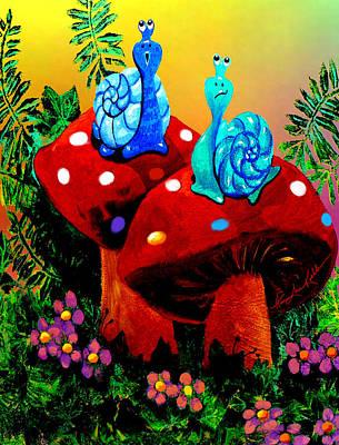 Soupy Snails Art Print by Hanne Lore Koehler
