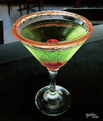 Photograph - Sour Apple Martini by Yom Tov Blumenthal
