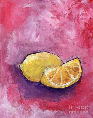 Abstract Realism Painting - Sour Lemons by Anne Seay