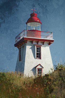 Photograph - Souris Lighthouse 3 by WB Johnston