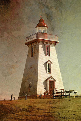 Photograph - Souris Lighthouse 4 by WB Johnston
