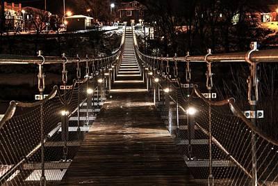 Souris Photograph - Souris Swinging Bridge Manitoba by David Matthews