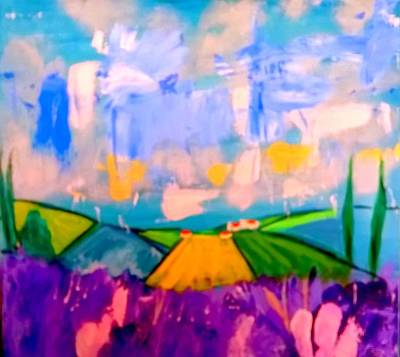 Painting - Sous Le Ciel De La Provence by Rusty Woodward Gladdish