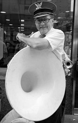 Sousaphone Photograph - Sousaphone Player by Robert Ullmann