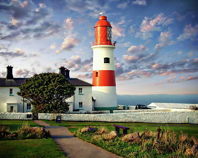 Photograph - Souter Lighthouse by Anthony Dezenzio