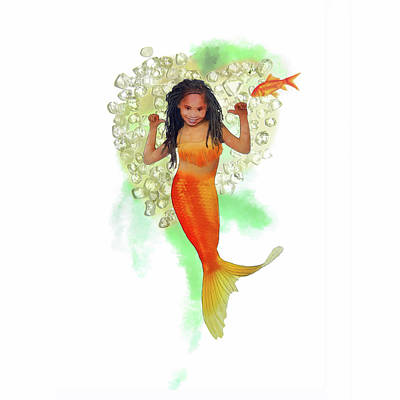 Digital Art - South African Mermaid by Francesa Miller