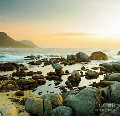 Photograph - South African Ocean Sunset by Tim Hester