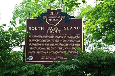 Photograph - South Bass Island Light Historical Marker by Michiale Schneider