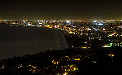 Photograph - South Bay At Night by Ed Clark