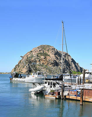 Photograph - South Bay Trawler Morro Rock by Floyd Snyder