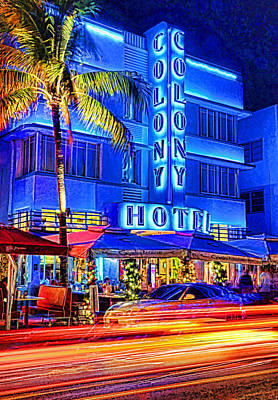 South Beach Art Deco Art Print by Dennis Cox WorldViews